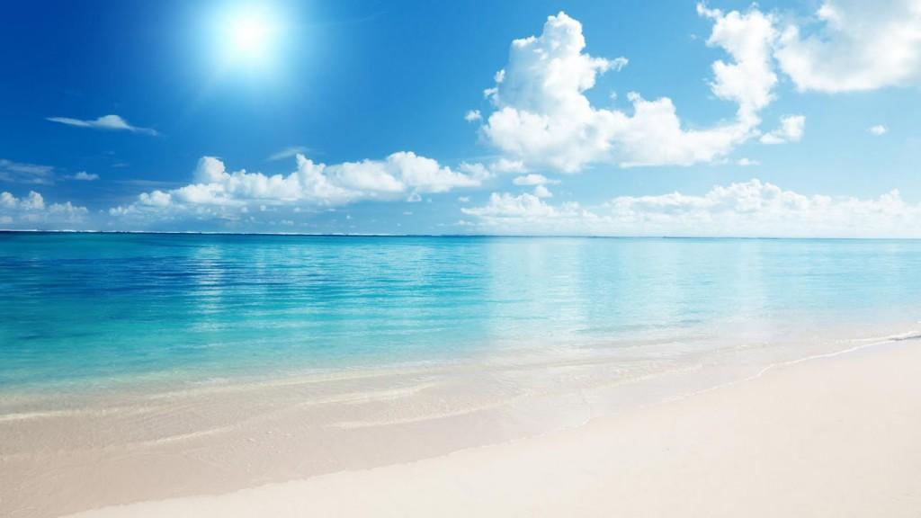 Rain beach palm sea australia sun ocean summer